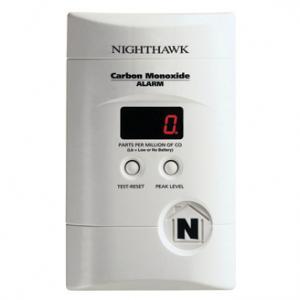 Kidde Nighthawk AC Plug-in Operated Carbon Monoxide Alarm with Digital Display KN-COPP-3: Silent & Practical