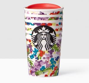 Starbucks New Spring Design - Floral Double Wall Traveler