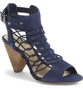 'Evel' Leather Sandal VINCE CAMUTO - Navy Blue