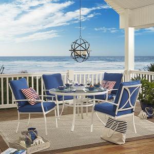 Garden Oasis Harrison 5 Piece Cushion Dining Set - Blue