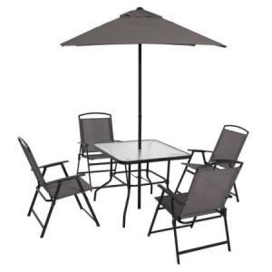 Mainstays Albany Lane 6-Piece Folding Dining Set, Multiple Colors
