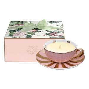 MOR Marshmallow Fragrant Tea Cup Candle - A Chic Essentials to have on your office desk