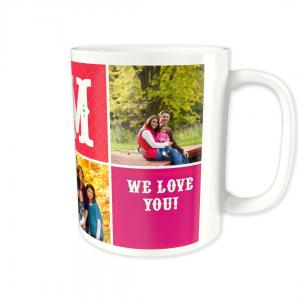 Take 30% Off Blocks Mom Custom Photo Mug, Makes a Great Mother's Day Gift!