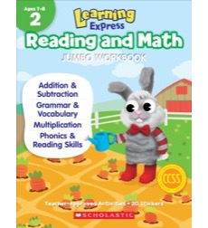 Save 60% on the Learning Express Reading and Math Jumbo Workbook Grade 2