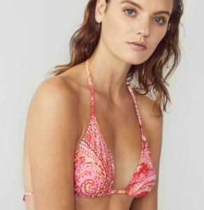 Paisley print triangular bikini