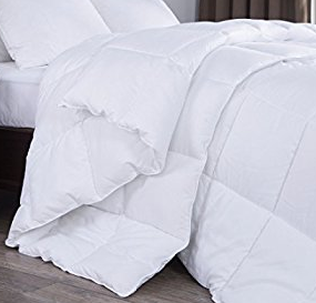 Natural Comfort White Down Alternative Comforter with Embossed Microfiber Shell, Light Weight Filled