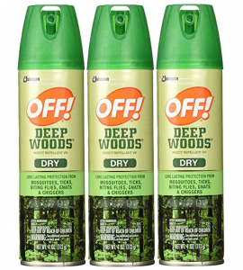 Off! Deep Woods Dry Insect Repellent VIII 4 oz (3 Pack)
