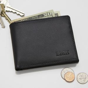 Personalized Leather Bi-Fold Wallet - Regent Collection