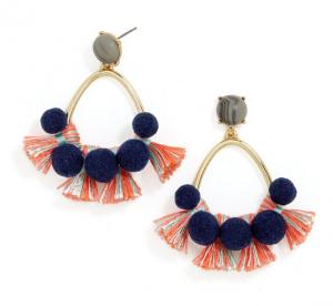 Melina Pom Pom Earrings