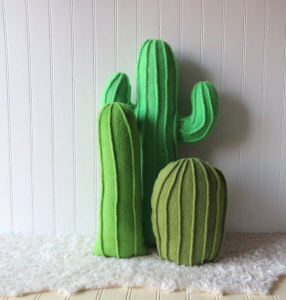 Set of 3 Cactus Pillows Home Decor
