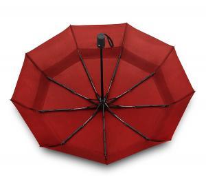 EEZ-Y Compact Travel Umbrella w/ Windproof Double Canopy Construction