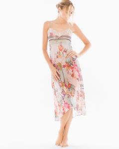 Jules Chiffon Floral Print Nightgown