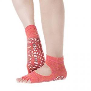 5 Pairs Toe Yoga Socks Non Slip with Grips