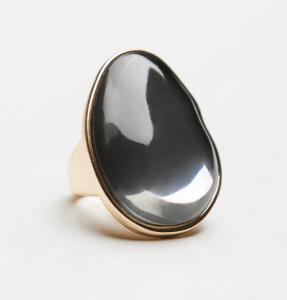 Mirror Orbit Stone Ring