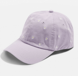 Daisy Embroidered Cap