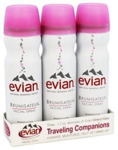Evian Brumisateur Facial Spray Travel Trio