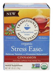 Organic Stress Ease Tea Cinnamon From Traditional Medicinals