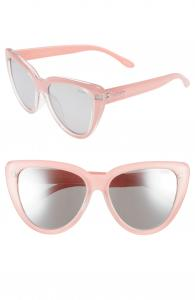 Stray Cat 58mm Mirrored Cat Eye Sunglasses