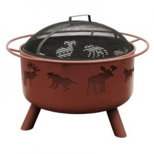 29-Inch Big Sky Wildlife Fire Pit In Clay 29